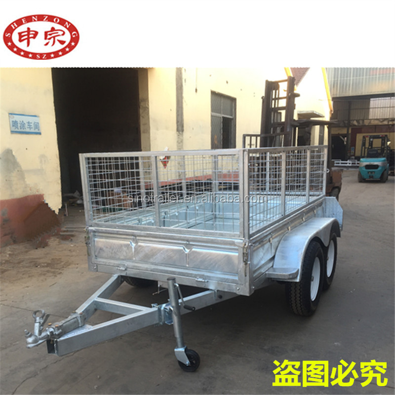 Hot dipped galvanized 8x5 cage trailer/box trailer/car trailer