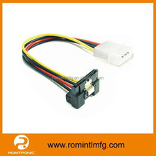 Sata Power Cable Sata15 Pin to 4 Pin Molex Cable With Latch