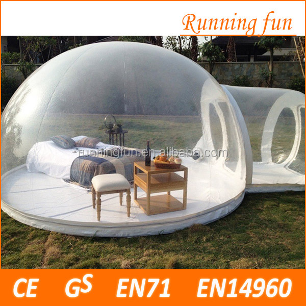 High quality Cash inflatable transparent dome, inflatable event marquee tent