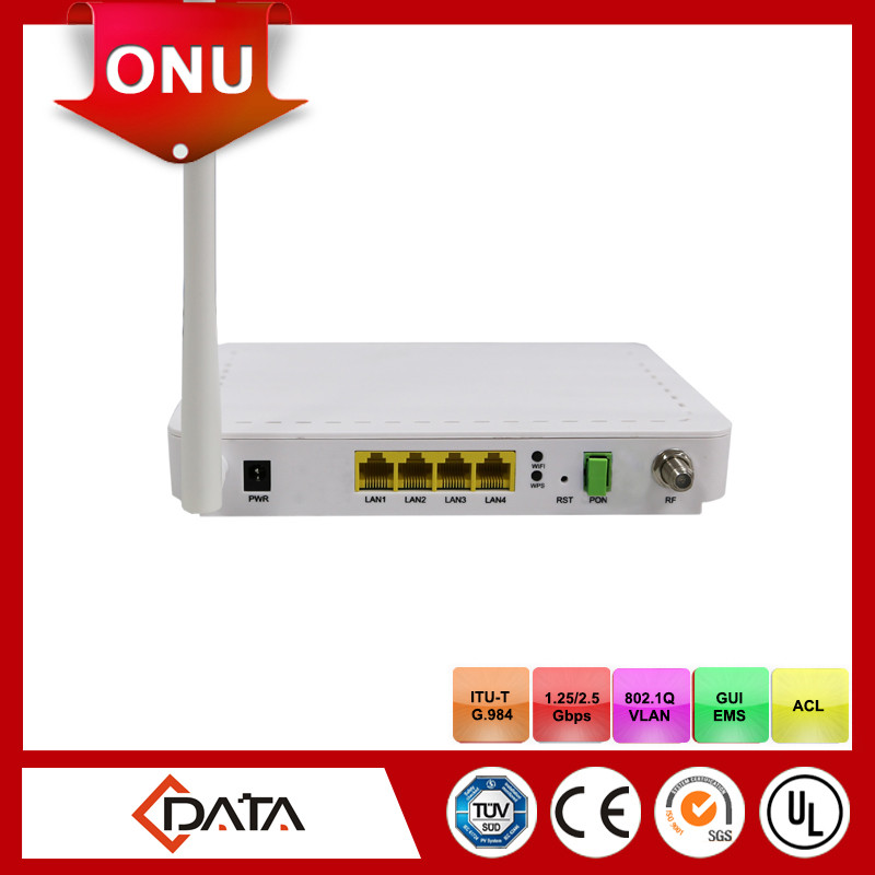 4GE+ CATV+ Wi-Fi Single Fiber wifi GPON router ONU with RF output