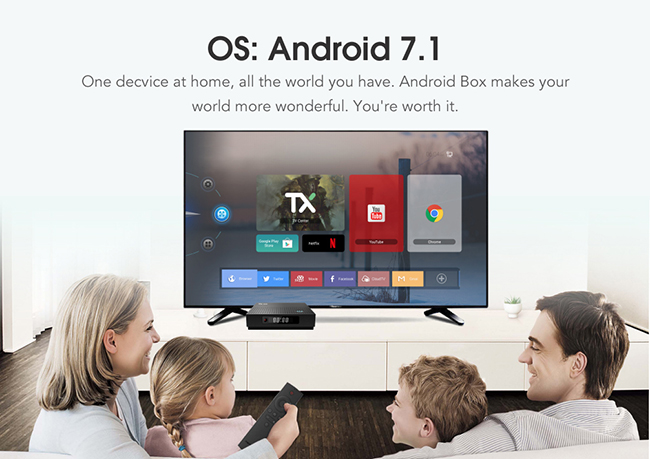 Android TV Box 1tb hdd Media Player TX92 Android 7.1 Media Box Amlogic S912 Octa core DDR4 3GB Media TV Box