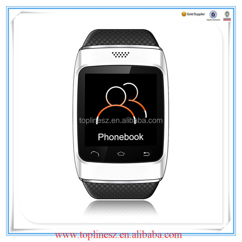 Alibaba China hotselling bluetooth smart watch phone s12 with scene mode, alarm clock, calculator, pedometer, calendar