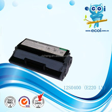 Compatible Black Toner Cartridge 12S0400 for E220/321/323 Printers Factory Supply