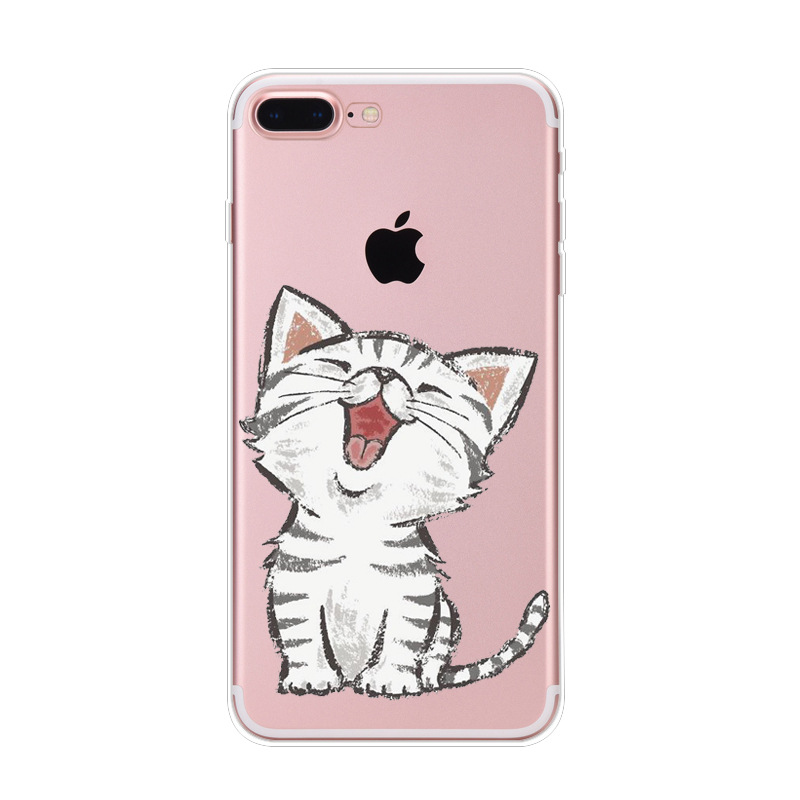 Creative customized mobile phone case printing cute cat tpu soft back cover case for <strong>iPhone</strong> 8/8plus
