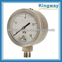 all stainless steel bayonet type liquid fillable lower connection pressure gauge