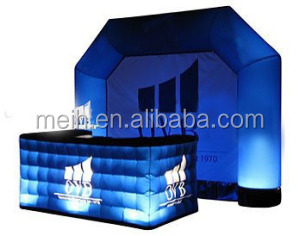 Crazy! Nice design bigger inflatable LED light party tent for outside bar