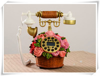 wholesale Old Style resin Landline Antique Corded Telephone