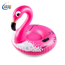 Lovely Cute Animal Shape Flamingo Sledge Adult Kids Inflatable Snow Tube