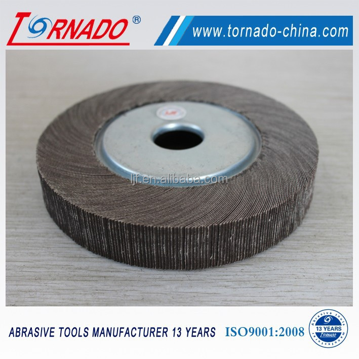 Diamond aperture abrasive flap wheel for grinder
