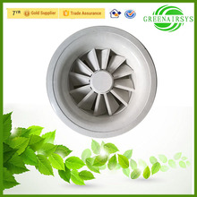 Air Conditioning Terminal Aluminum Far Range Round Supply Air Diffuser with Adjustable Blades for Large Area Supply