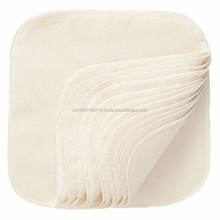 Natural Cotton Washable Wipes Organic Made in USA
