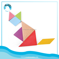 DIY cartoon wooden creative blocks wood tangram