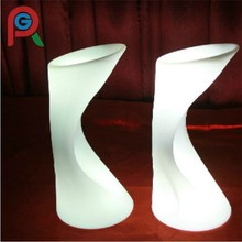 2016 hot selling led chair bar chair Wedding party shining modern cheap plastic LED shining chair
