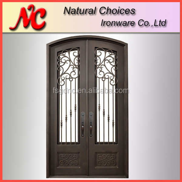 Hand forge exterior metal door