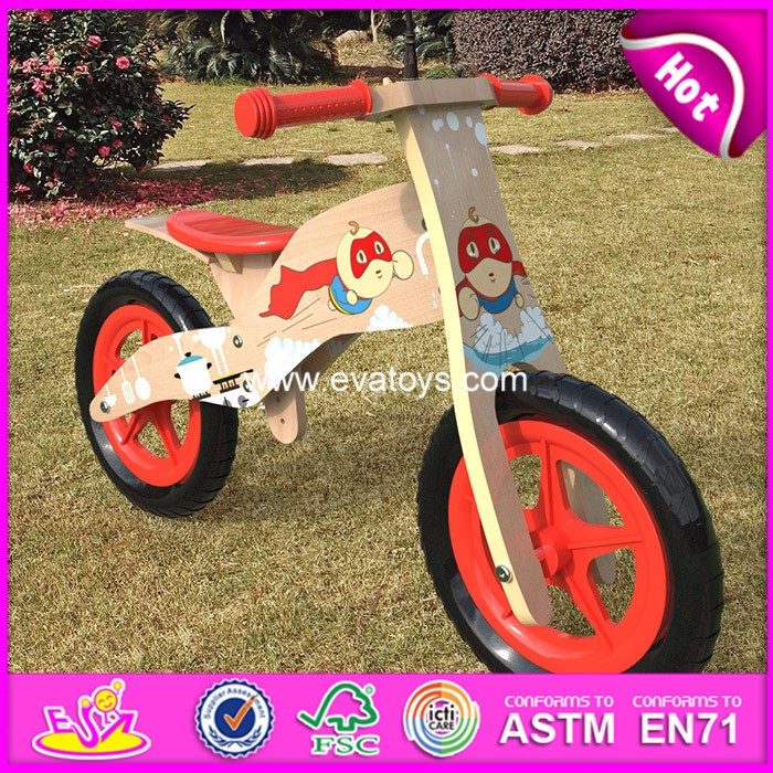 2017 hot sale kids wooden bike,popular wooden balance bike,new fashion kids bike W16C178