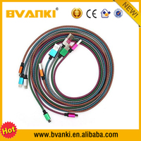 2016 best products for import metal braided usb cable Braided Metal Case Cell Phone Data Charging Cable