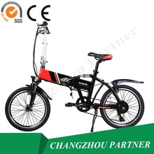 CE SGS Approved! Jiangsu Small Size Mini Folding City Mountain Electric Bike