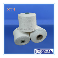 China manufacture yizheng fiber bright 100% spun polyester yarn with good quality for knitting