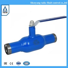 TKFM hot sale 4inch welding hot water ball valve dimensions