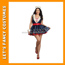 Wholesale hot cheap dance fat Sexy Woman Sailor Costumes PGWC-3584