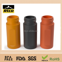 soft touch HDPE plastic bottle with hands squeeze caps