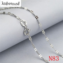 special Four Leaf Clover shaped 925 silver Chain Necklace for Pendant