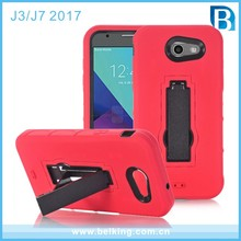 Dot Colorful Robot Hand Free Hard PC Back Case with Rubber Cover Skin For Samsung J3 J7 Phone