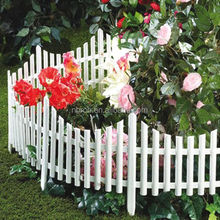 Mini white flexible garden lawn edging plastic garden fence
