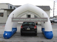 Giant outdoor inflatable CAR garage tent for party