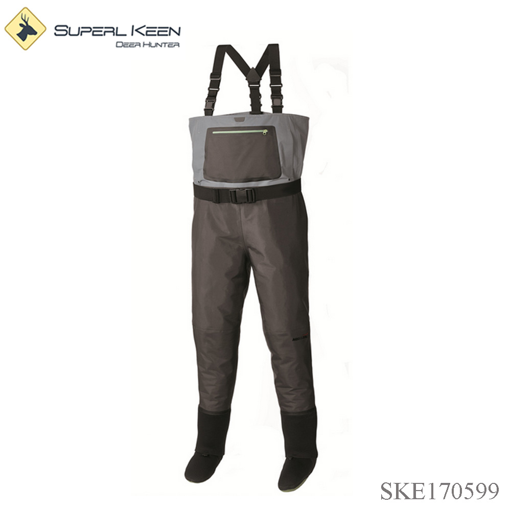 Convertible Nylon Waders with Neoprene Stocking Foot