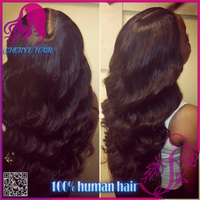 Factory wholesale Raw Indian human hair u part wigs 100% human hair wigs with middle parting natural color for sale