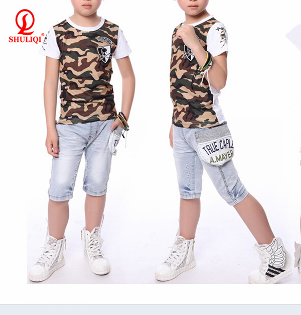short sleeve t -shirt/boys clothing made in china Apparel children's clothing sets for fashion garment