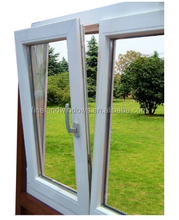 Bullet proof glass window pvc tilt and turn window
