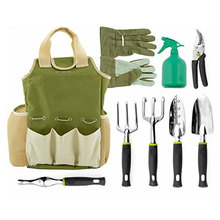 9 Piece Garden Tool Set with Gardening Tote and Work Gloves