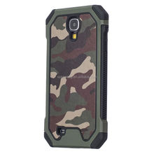 Camouflage heavy duty case back cover for Samsung Galaxy S4, 2 in 1 shockproof case for Galaxy S4