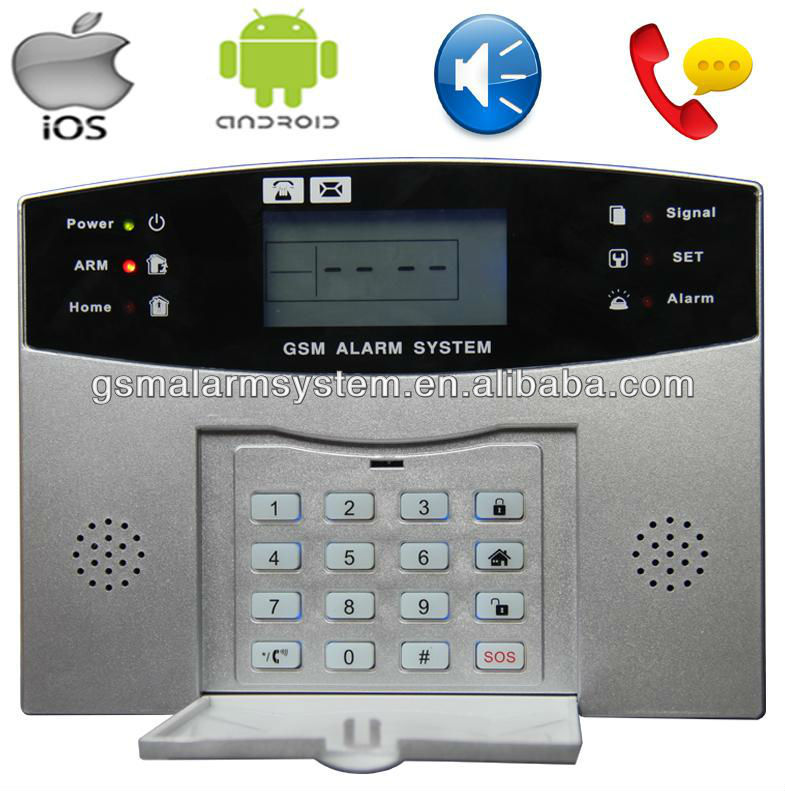 GSM home alarm SMS Alert to 4 mobile phone Voice broadcast S100Pro Quad-Band