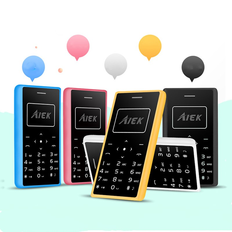 Factory cost Ultra Thin Card Mobile Phone 4.8mm AIEK X7 mini phone