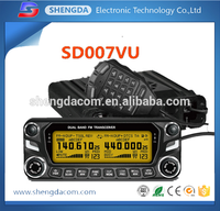 Military quality and factory price 20km-50km quad band ham radio FM VHF UHF mobile Taxi bus transceiver with USB cable