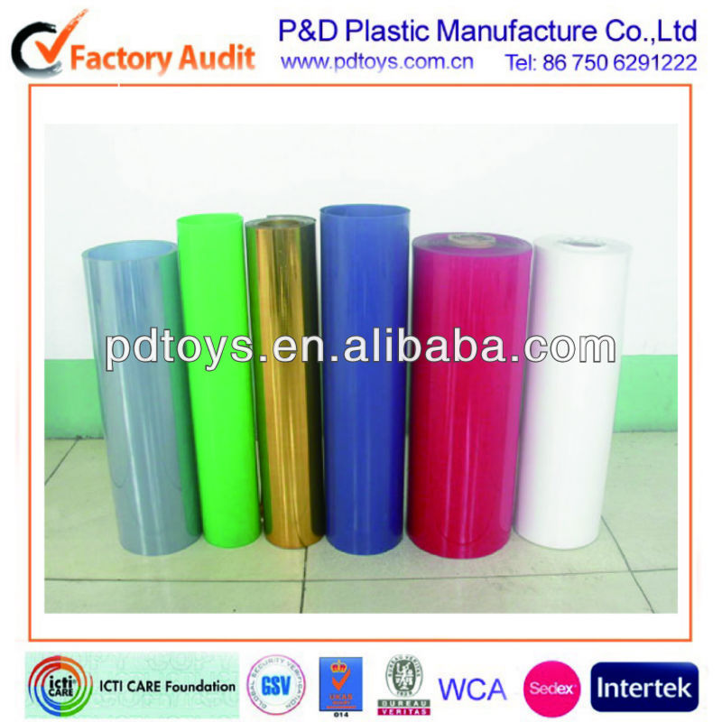 Custom Colors Phthalate free PVC Sheet for inflatable