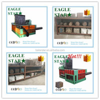 best selling hydraulic metal scrap factory aluminum cans baler