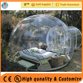 High quality outdoor camping tent / inflatable bubble tent / trade show tent