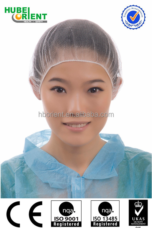 CE approved disposable nylon net cap/nylon hair nets