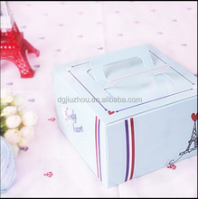 Blue portable 6 inch cheese mousse cake box west cupcakes wholesale food packaging