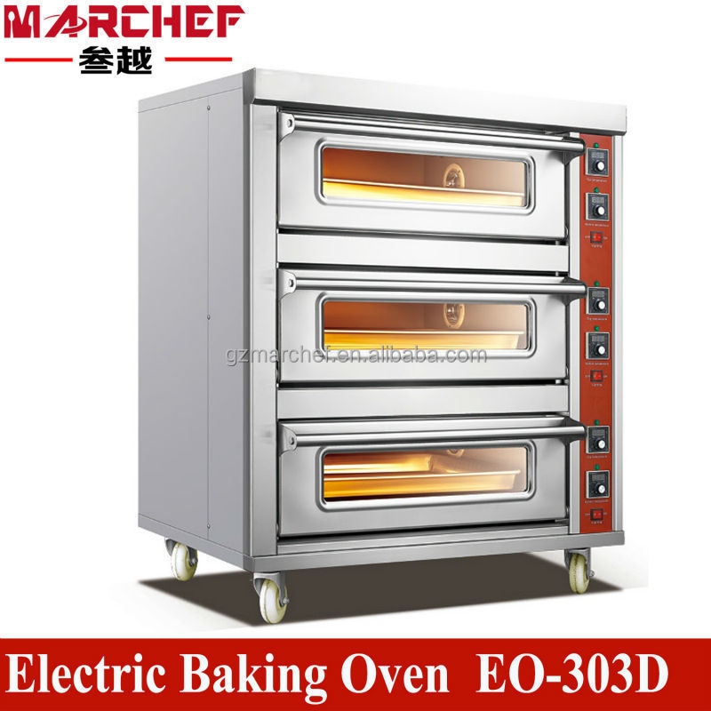 EO-303D.Stainless steel Commercial Kitchen Electric Bread /Cake/Pie Baking Oven