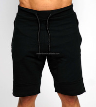 Black Tapered Short Jogger Pants Fashion Men's Gym Fitted Shorts OEM Cotton Polyester Spandex Sweat Shorts