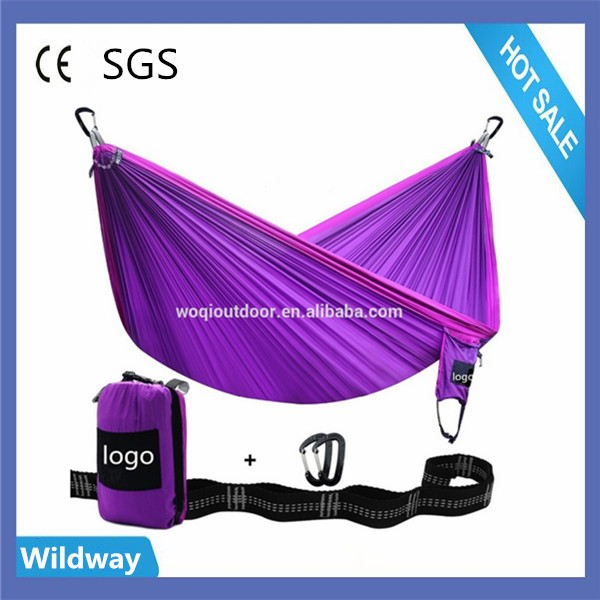 Durable parachute 210 T nylon ultra-léger en plein air portable camping double hamac