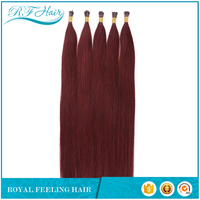Wholesale products unprocessed natural looking 100% remy bright colors prebonded human hair