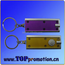 promotion plastic rectangle led keychain with led light cheap