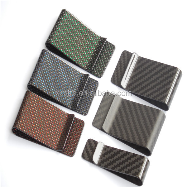Customized Size Small Carbon fiber money clip wallet