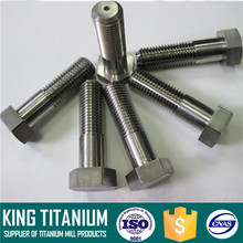 Grade 2 Titanium Bolt Hex Head Titanium Bolt for Racing